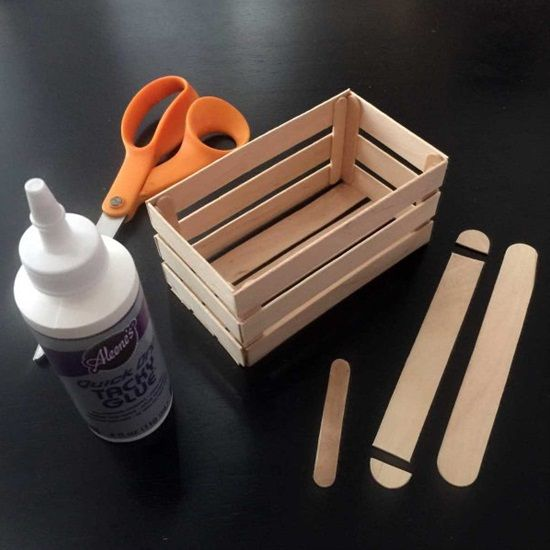 Popsicle Stick Crate Diy Projects Gifts Craft Stick Crafts