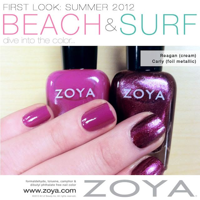 First Look: Zoya Beach & Surf Collections - Reagan & Carly