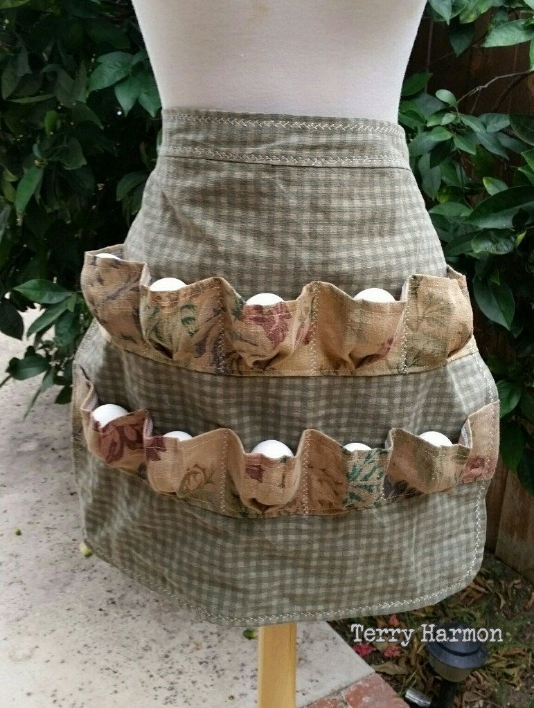 Egg Gathering Apron : gathering, apron, Collecting, Apron, Gathering, Shabby, Elegant, Apron,, Aprons,