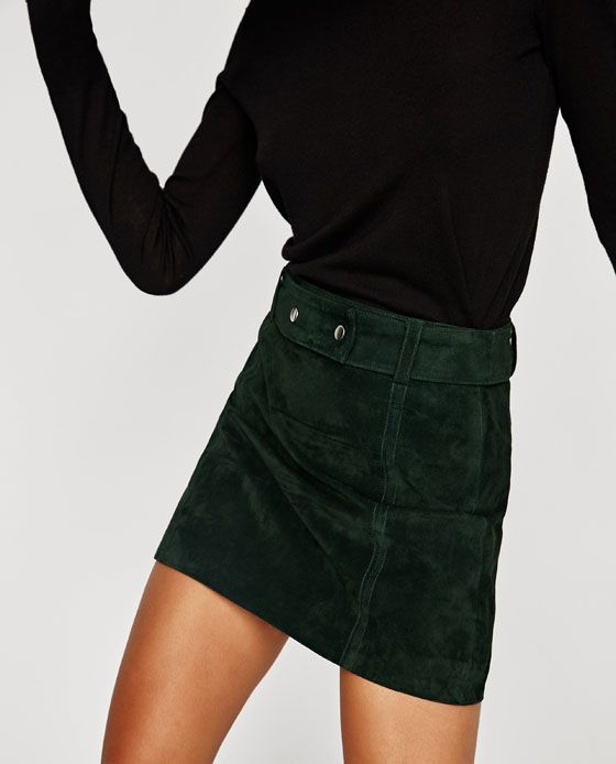 79f7cebd98 Zara Suede Mini Skirt in Green $69.90 | Clothes | Mini skirts, Suede ...