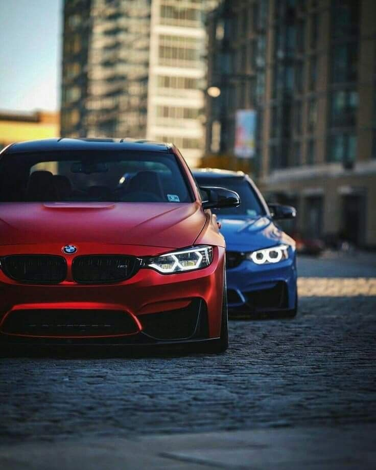 Bmw F80 M3 Duo Red Blue With Images Bmw Dream Cars Bmw Bmw Cars