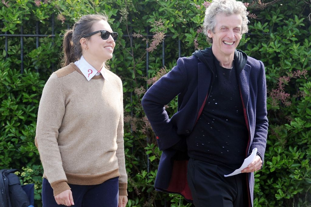 Doctor Who Series 9: Peter Capaldi and comedian Ingrid Oliver ...