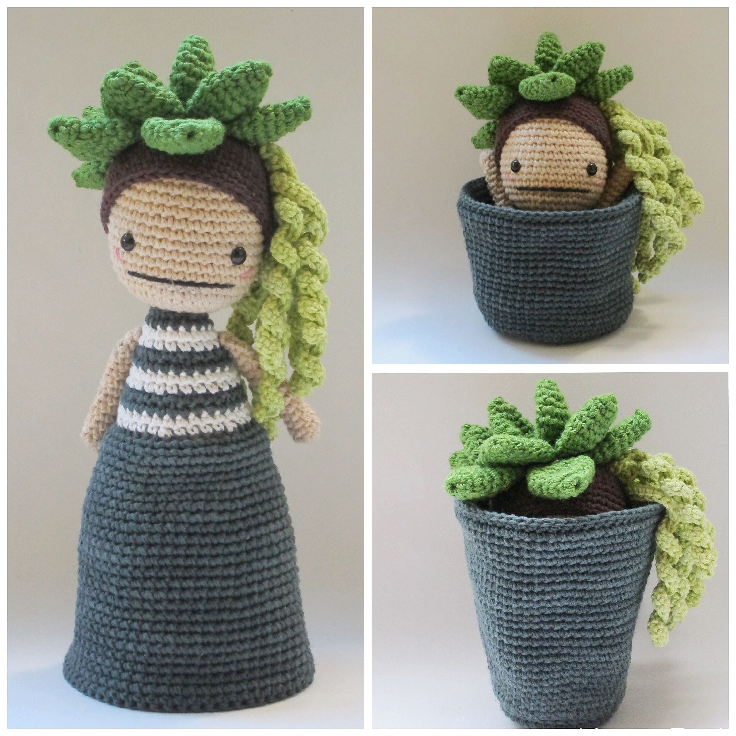 Flora, the Succulent - Crochet Pattern by {Amour Fou} #toydoll