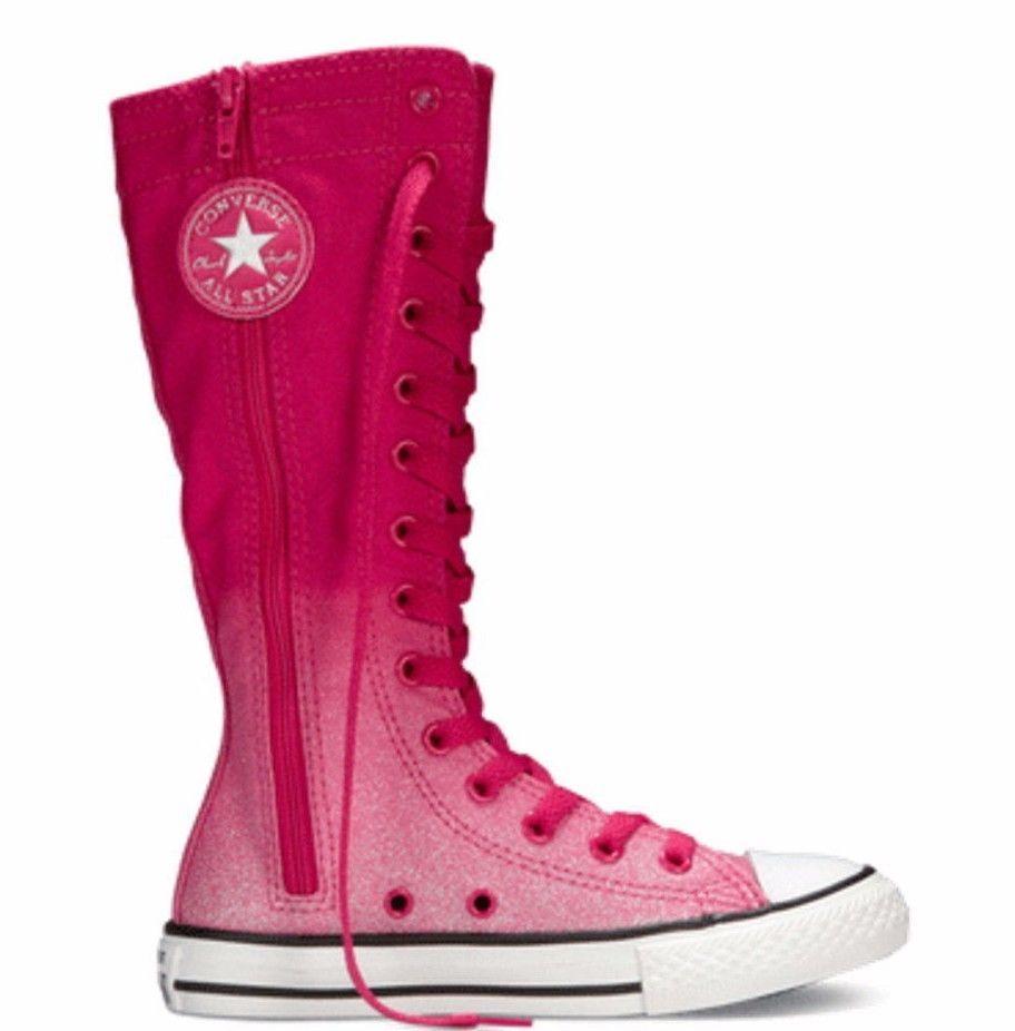 0c06ce48d88 Converse Chuck Taylor All Star Junior Extra Hi Top Cosmos Pink Sz 3.5   Converse  FashionSneakers  juniorshoes