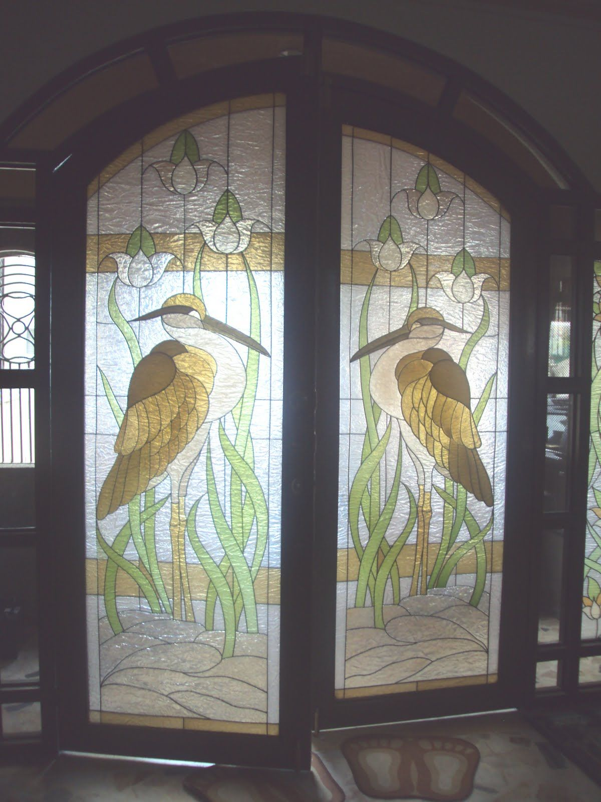 Etched glass doors privacy glass door inserts bamboo pictures to pin - Stained Glass Doors Glastek By Delmens Stained Glass Fiberglass Art Etched