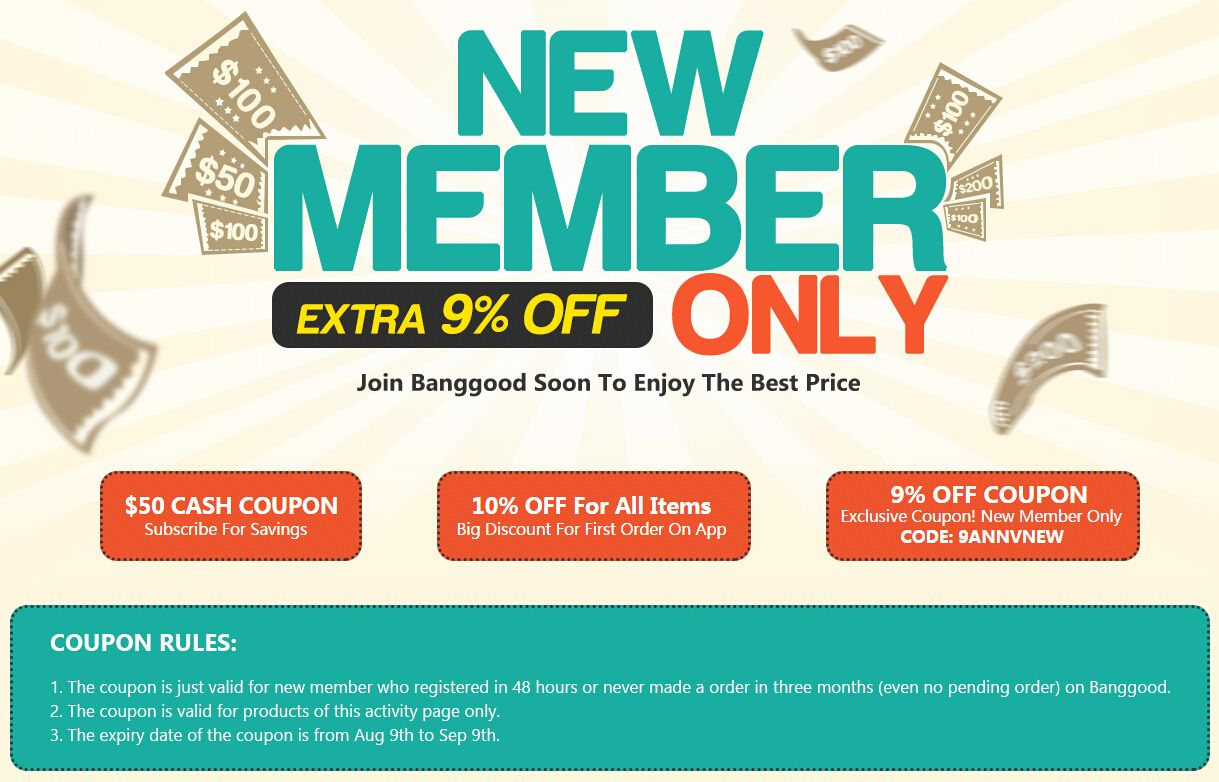 Banggood discount coupons