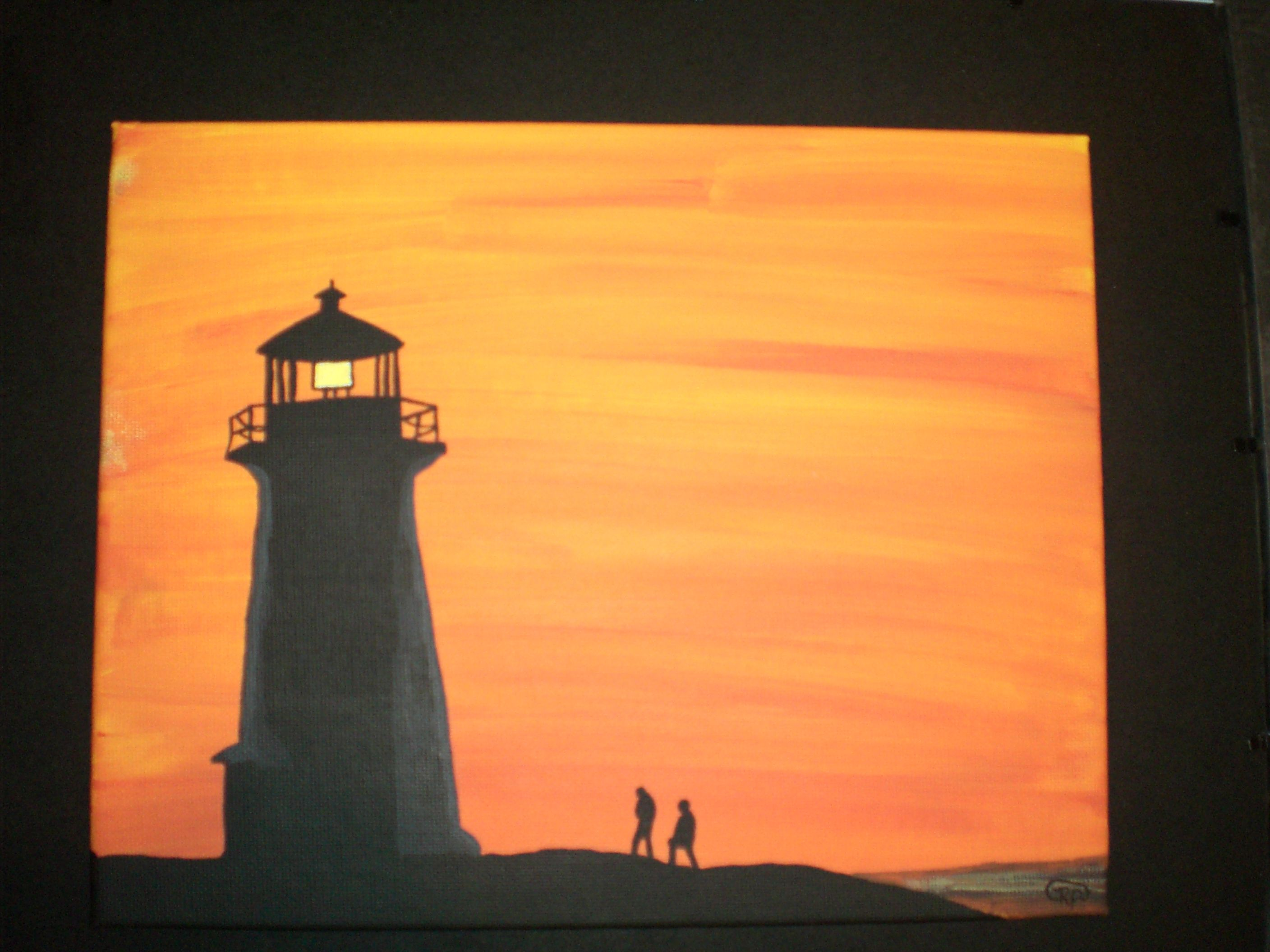 Easy Painting Simple Yet Stunning Silhouette Painting Silhouette Painting
