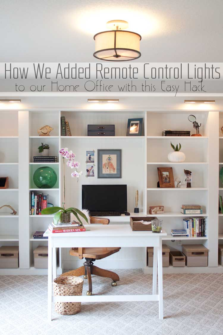 How We Added Remote Control Lights To Our Home Office Ikea Built