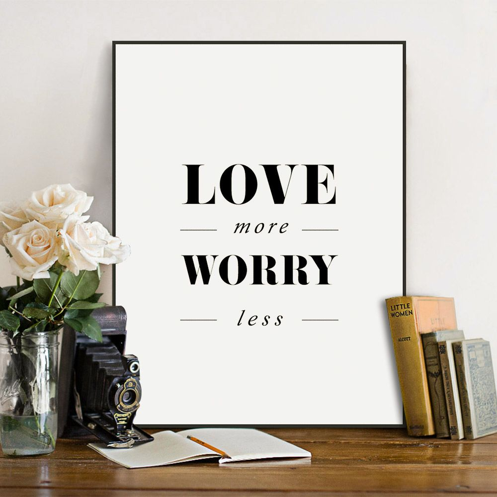 modernen minimalistischen schwarz wei typografie love quotes a4 big kunstdruck poster wand bild. Black Bedroom Furniture Sets. Home Design Ideas
