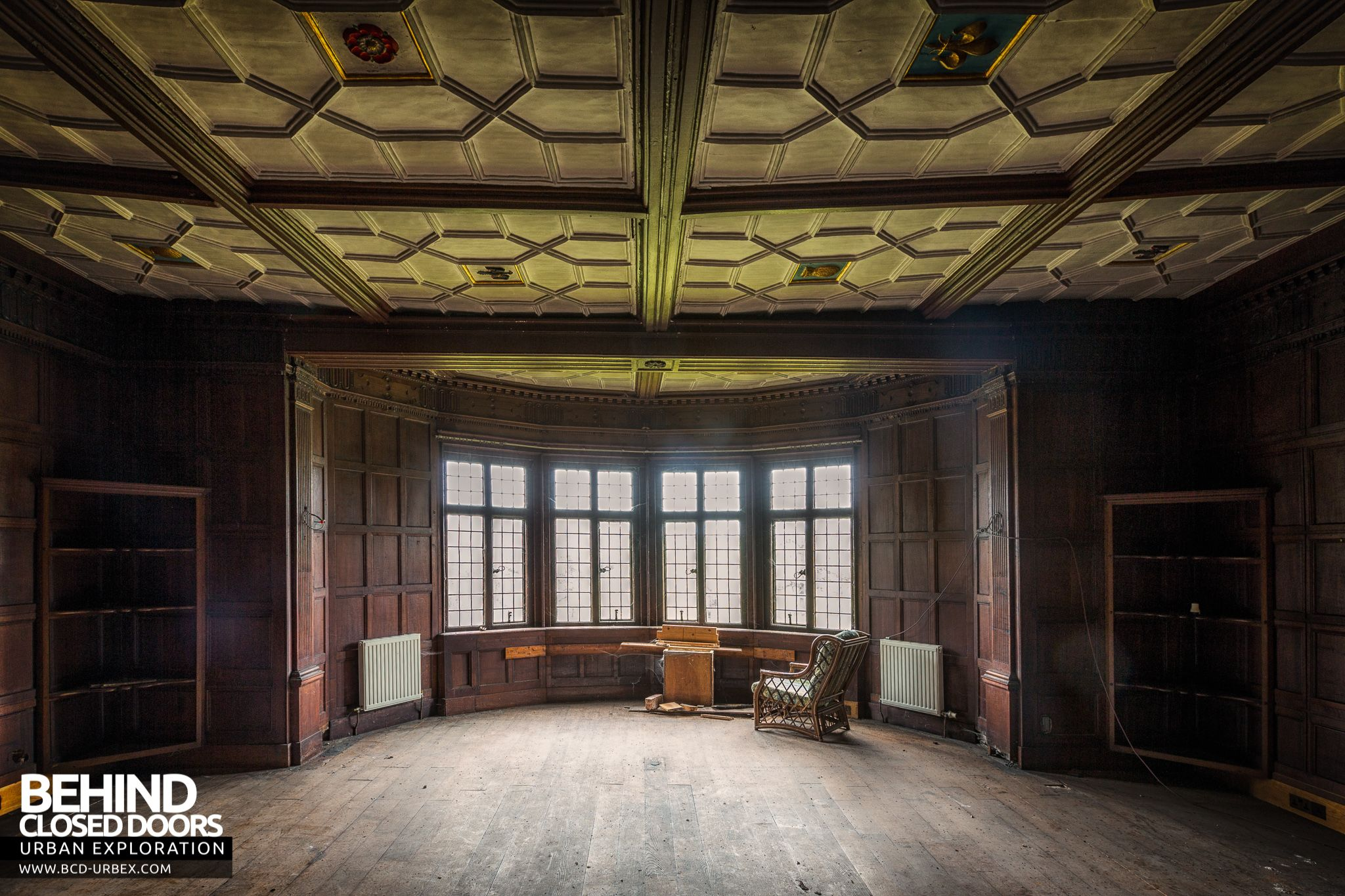 Pitchford Hall Room with amazing ceiling