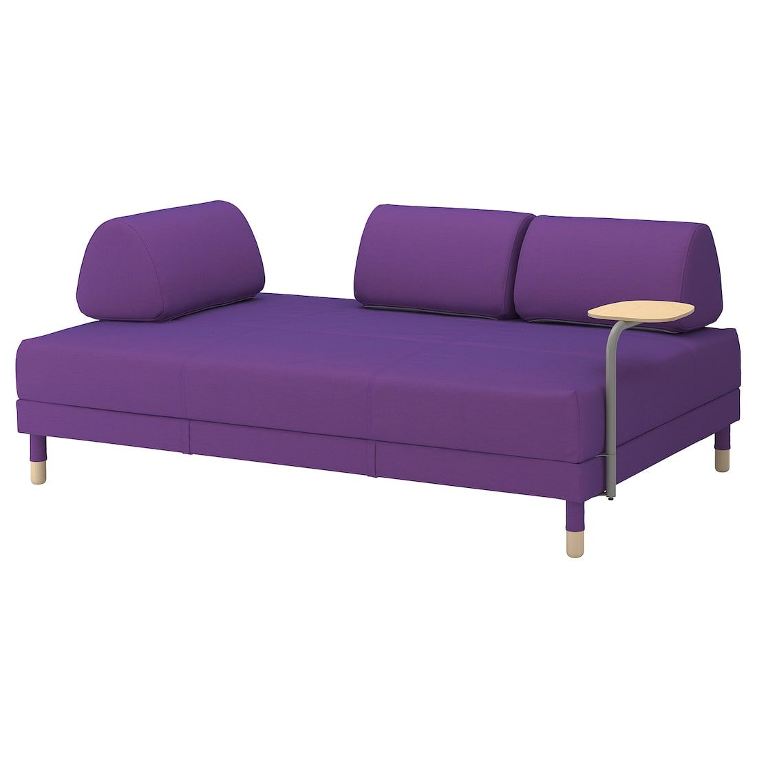 Ikea Flottebo Vissle Purple Sleeper Sofa With Side Table Sleeper Sofa Ikea Sofa Ikea Armchair