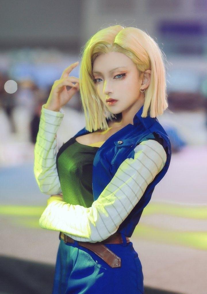 androide 18 ドラゴンボール コスプレ コスプレ 衣装 外国人 コスプレ