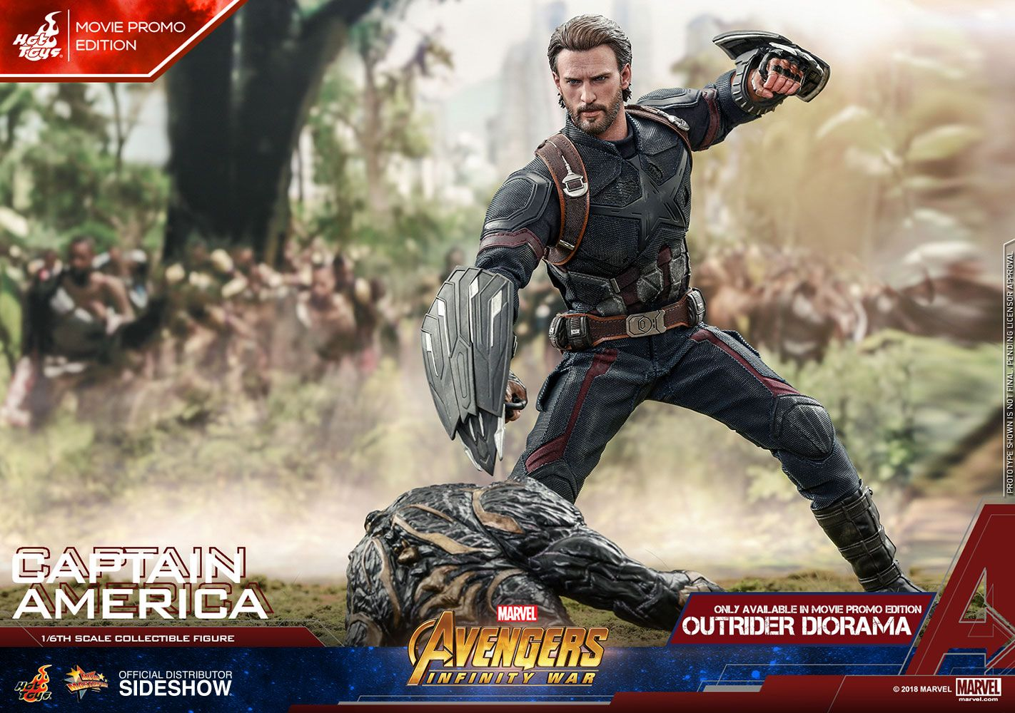 Marvel Captain America Movie Promo Edition Sixth Scale Figure By