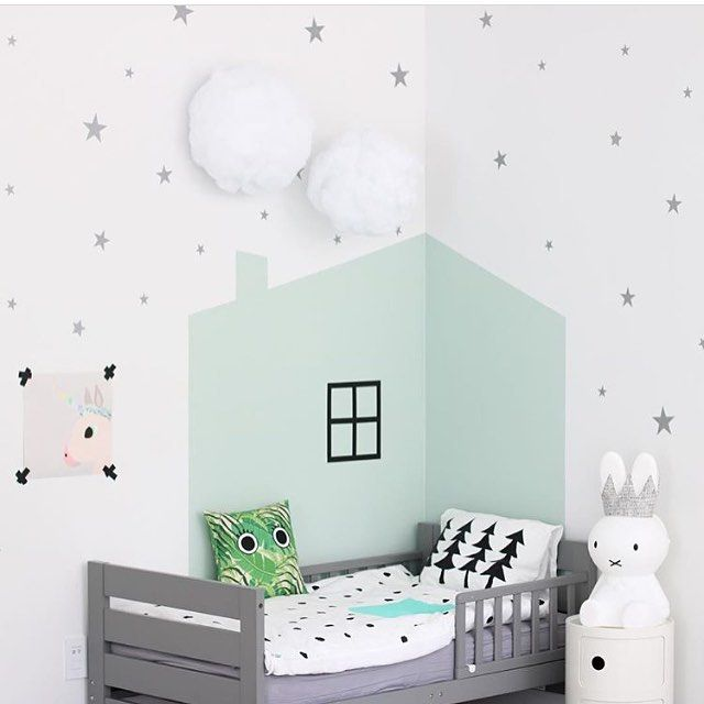 Mint and grey for a kids room