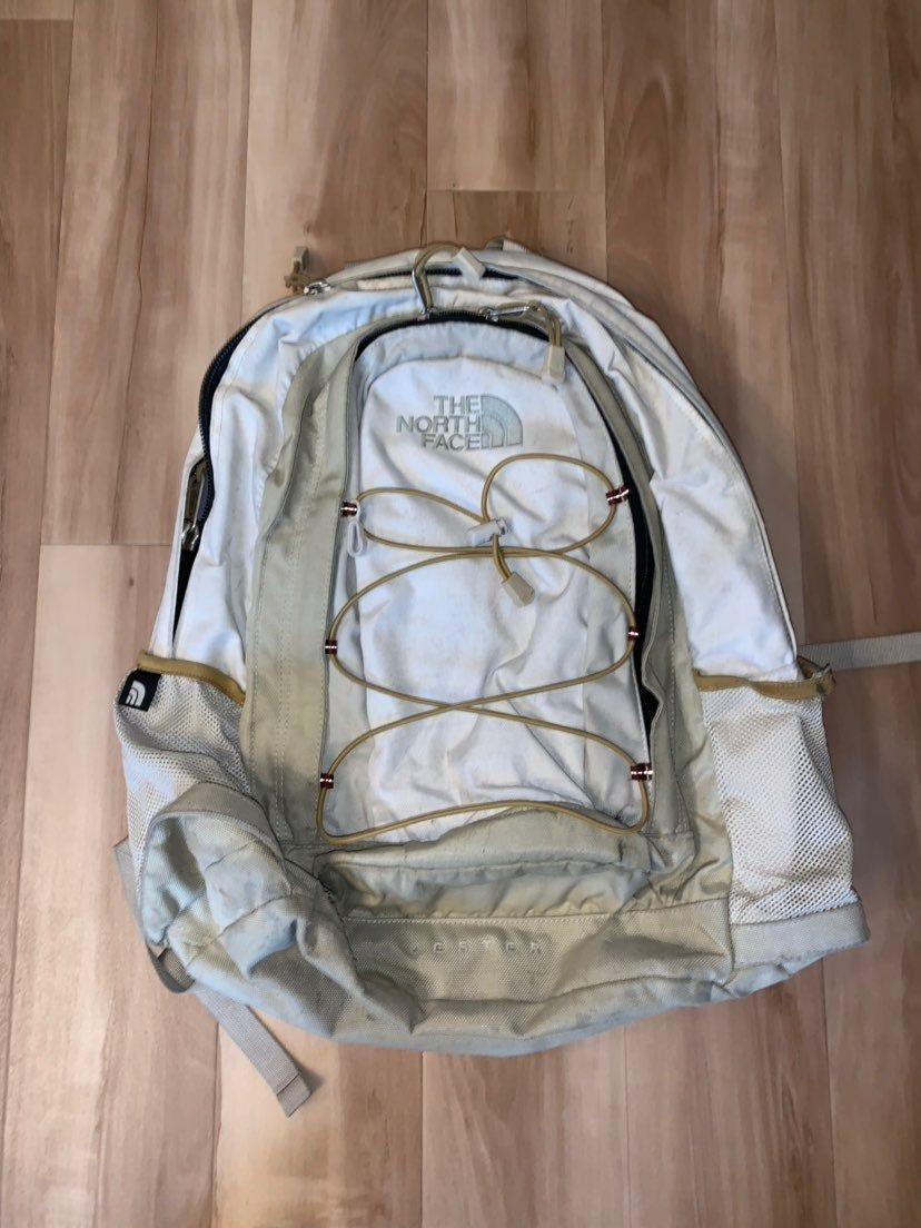 North Face Backpack Style Is Jester Color Is White But Has Some