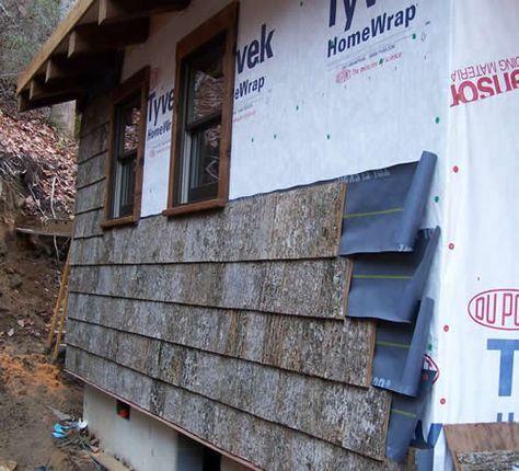 Poplar Bark Siding Installation Parton