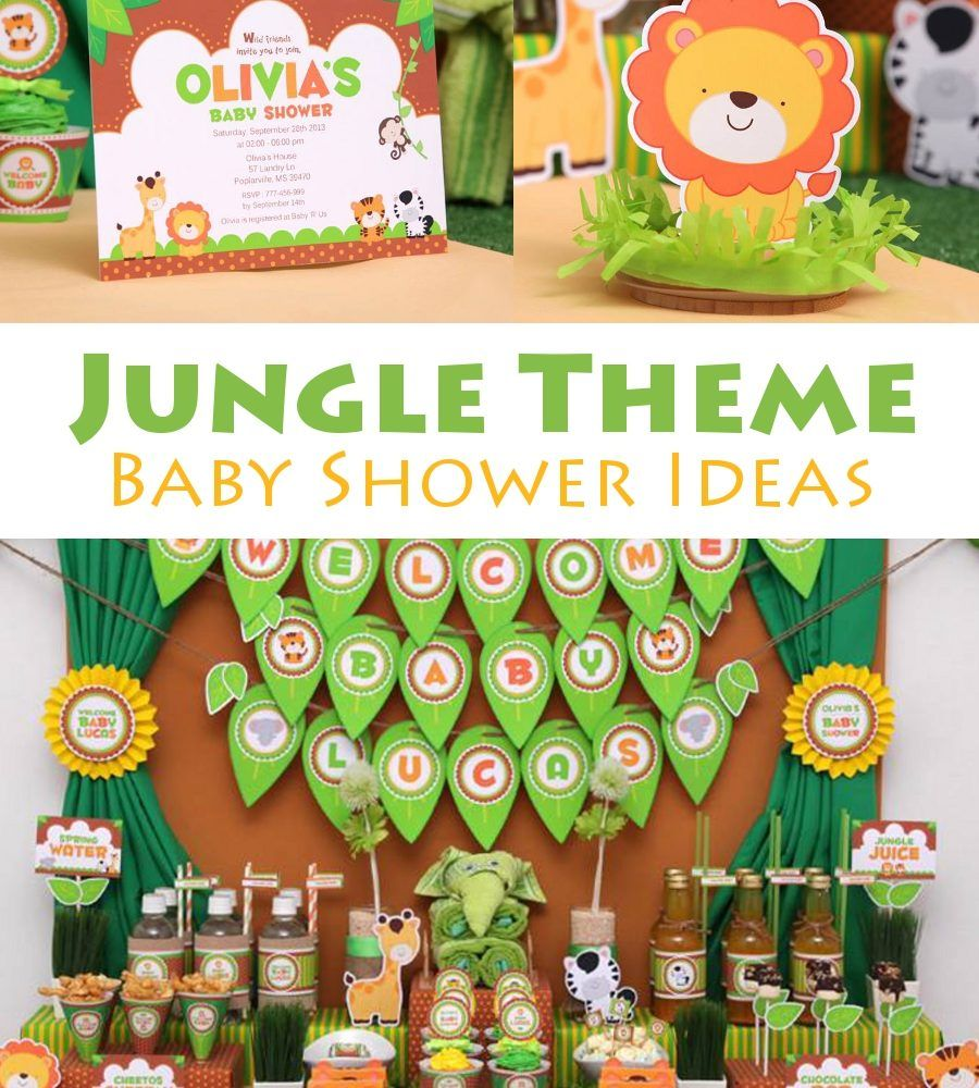 Jungle Theme Baby Shower Ideas Party Ideas Pinterest Baby