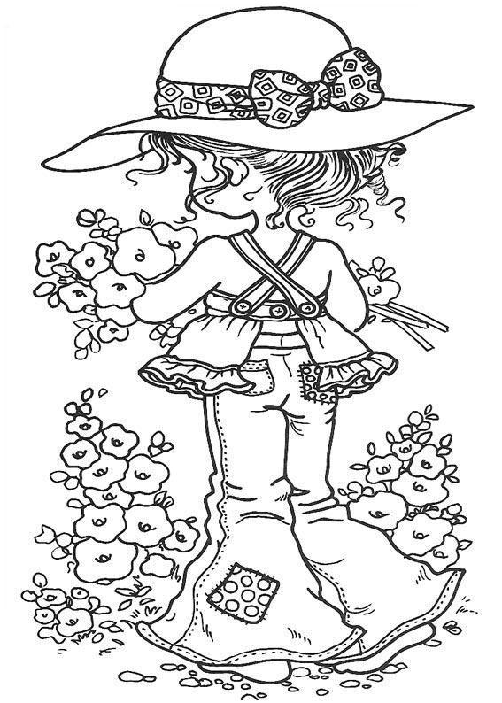 Colouringpage By Sarah Kay Sarah B W Sarah Kay Coloring Pages
