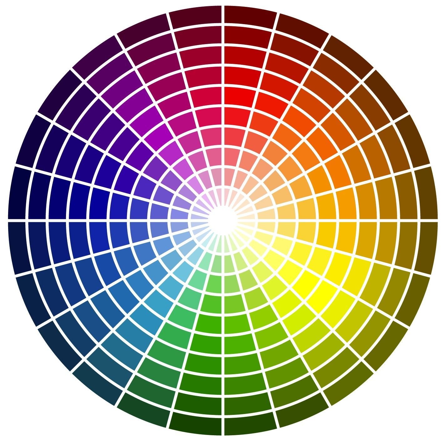 Colour Wheel To Show Contrasting Colours And Colours That