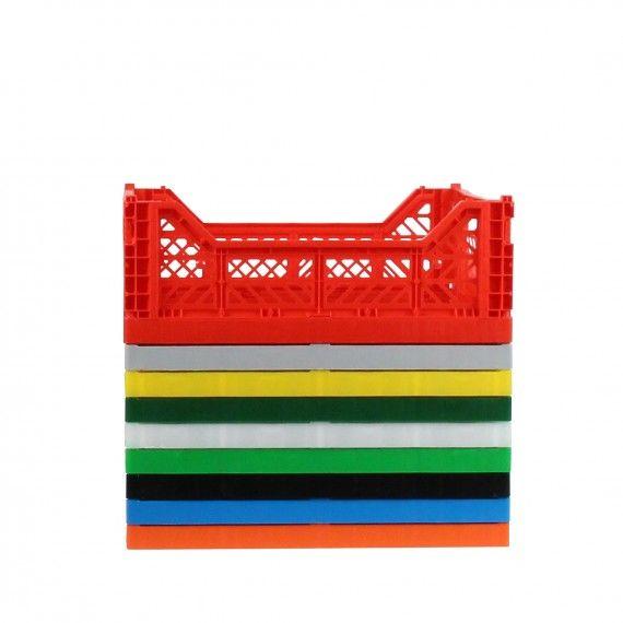 Cagette Rangement En Plastique Rouge Empilable Et Pliable Look Industriel Livraison Gratuite En Point Relais De Cagette Panier Plastique Rangement Plastique