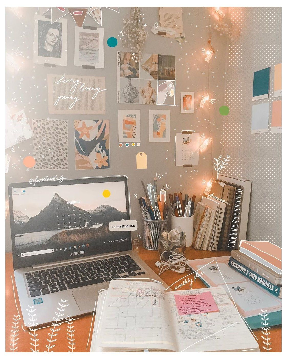 Ultimate Student Organizer Pack Aesthetic Desk Wallpaper Aestheticdeskwallpaper In 2021 Study Room Decor Study Decor Study Desk Decor