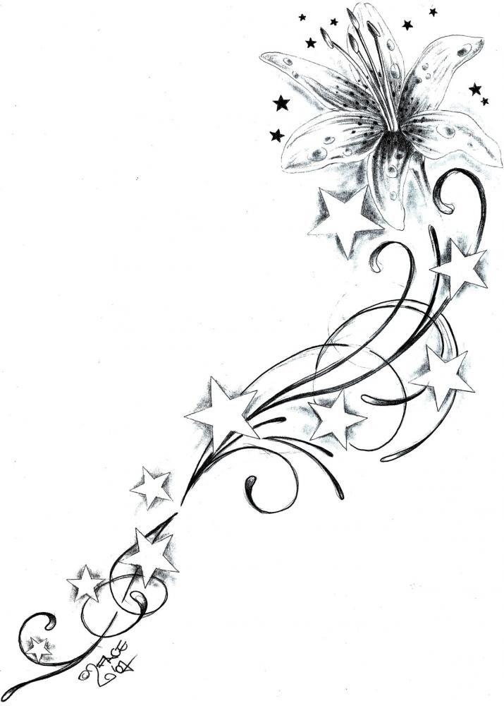Tattoo schnörkel linien