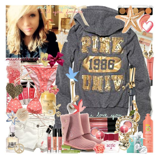 i scream your name, i don't know why i care. by seamusfinnigan on Polyvore featuring polyvore fashion style Victoria's Secret UGG Australia Juicy Couture Forever 21 Dorothy Perkins philosophy MAKE UP FOR EVER MAC Cosmetics Sephora Collection Abercrombie & Fitch Tiffany & Co. Aerie Hot Tools