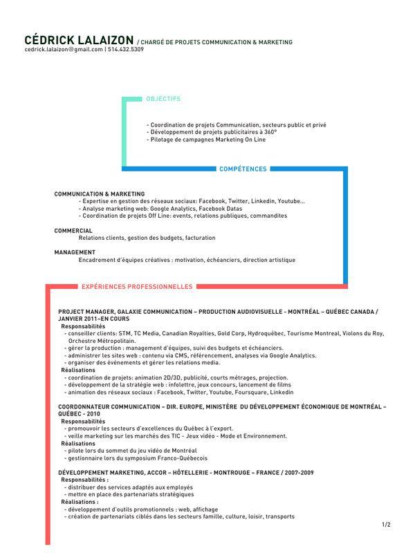 Fichier Pdf Cv Cedrick Lalaizon Pdf Campagne Marketing Communication Marketing Charge De Projet