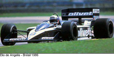 Brabham BT55 1986 Formule 1, Le castellet, Grand prix