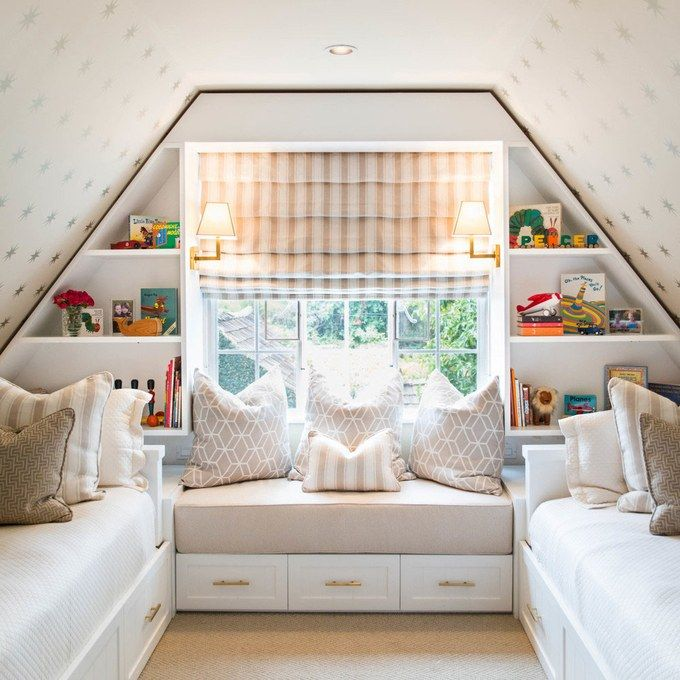 Beau The Roomu0027s Slanted Ceilings Wouldnu0027t Allow For Traditional Bunk Beds, So  The Designers