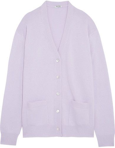 Miu Miu - Oversized Cashmere Cardigan - Lilac   Women Sweaters ...