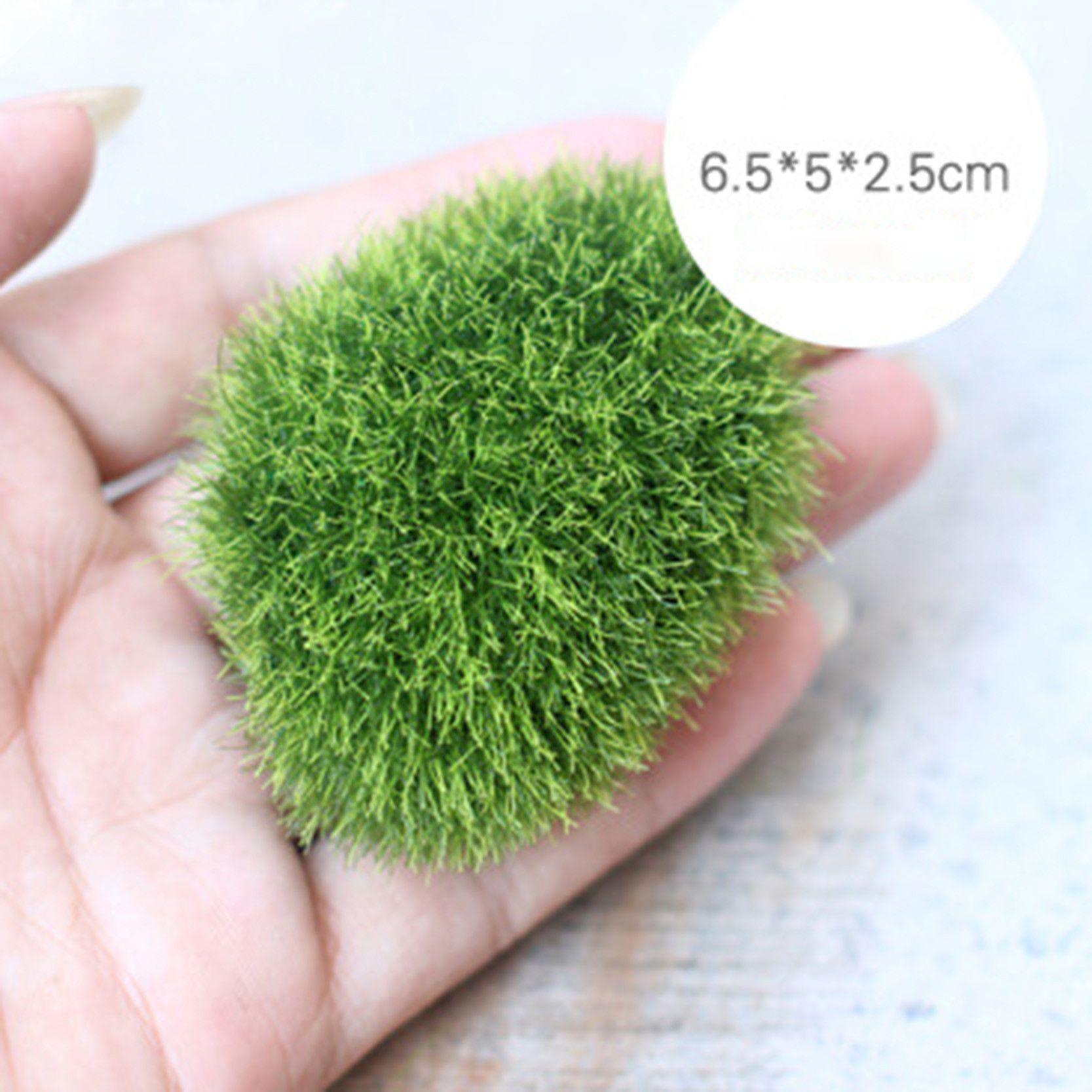 1pcs New Garden Decoration Artificial Mini Green Moss Stone Home ...