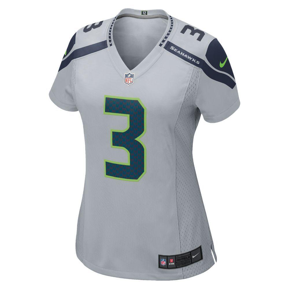 Nike NFL Seattle Seahawks (Russell Wilson) Women s Football Alternate Game  Jersey Size Small (Grey) 733775591