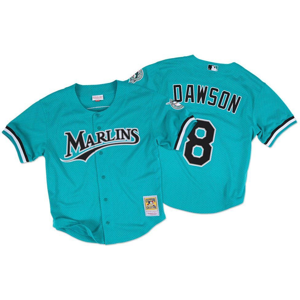 Mitchell and Ness Andre Dawson Marlins Batting Practice Jersey