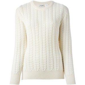 3253f588cd6 Céline Vintage Cable Knit Sweater