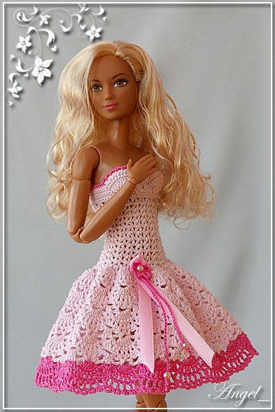 Pin von Alexandra Tarasova auf Knit & Crochet: Barbie\'s clothes p.8 ...