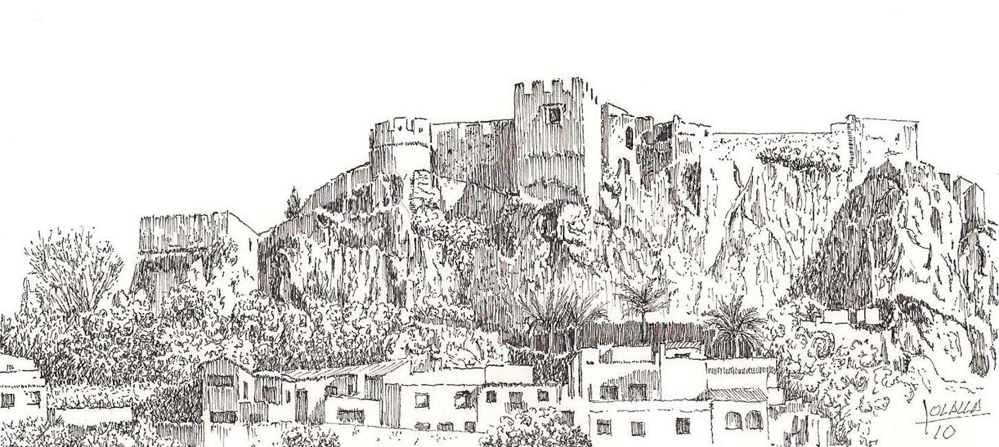Resultado de imagen de castillo de peafiel dibujo  dibujos