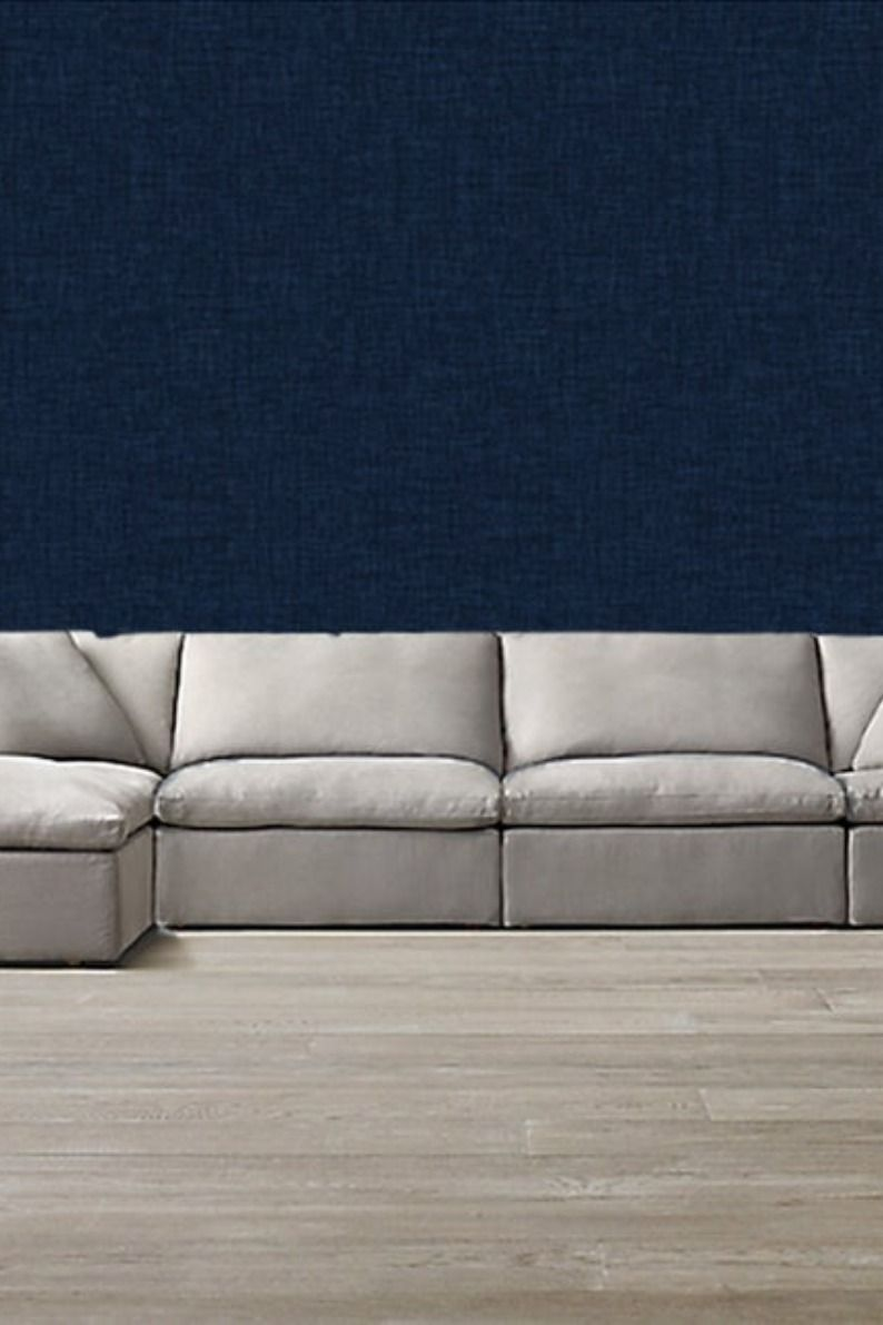 Navy Linen Wallpaper Removable Abstract Wallpaper Peel And Etsy Blue Wallpapers Abstract Wallpaper Linen Wallpaper