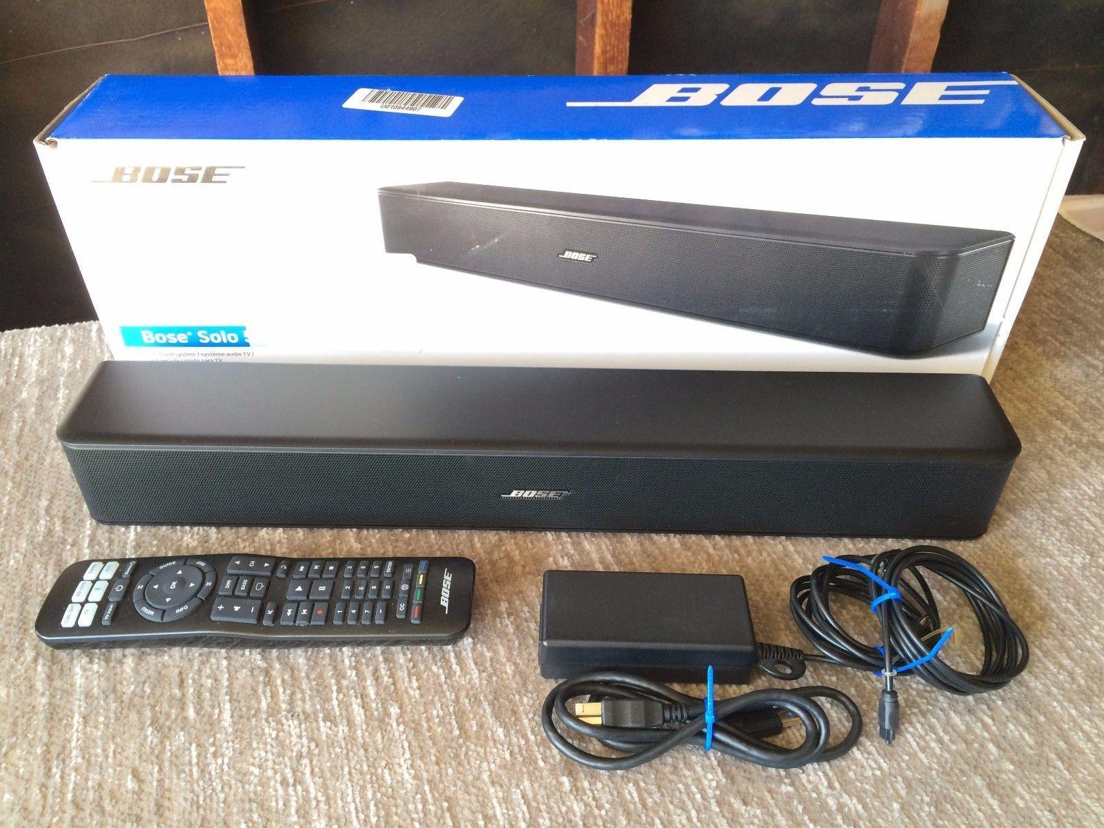 Bose Solo 5 Tv Sound Bar System Bluetooth Connectivity Stream Music Wirelessly Bose Soundbar Speaker Shop Our Shop Soloing Ebay Bluetooth