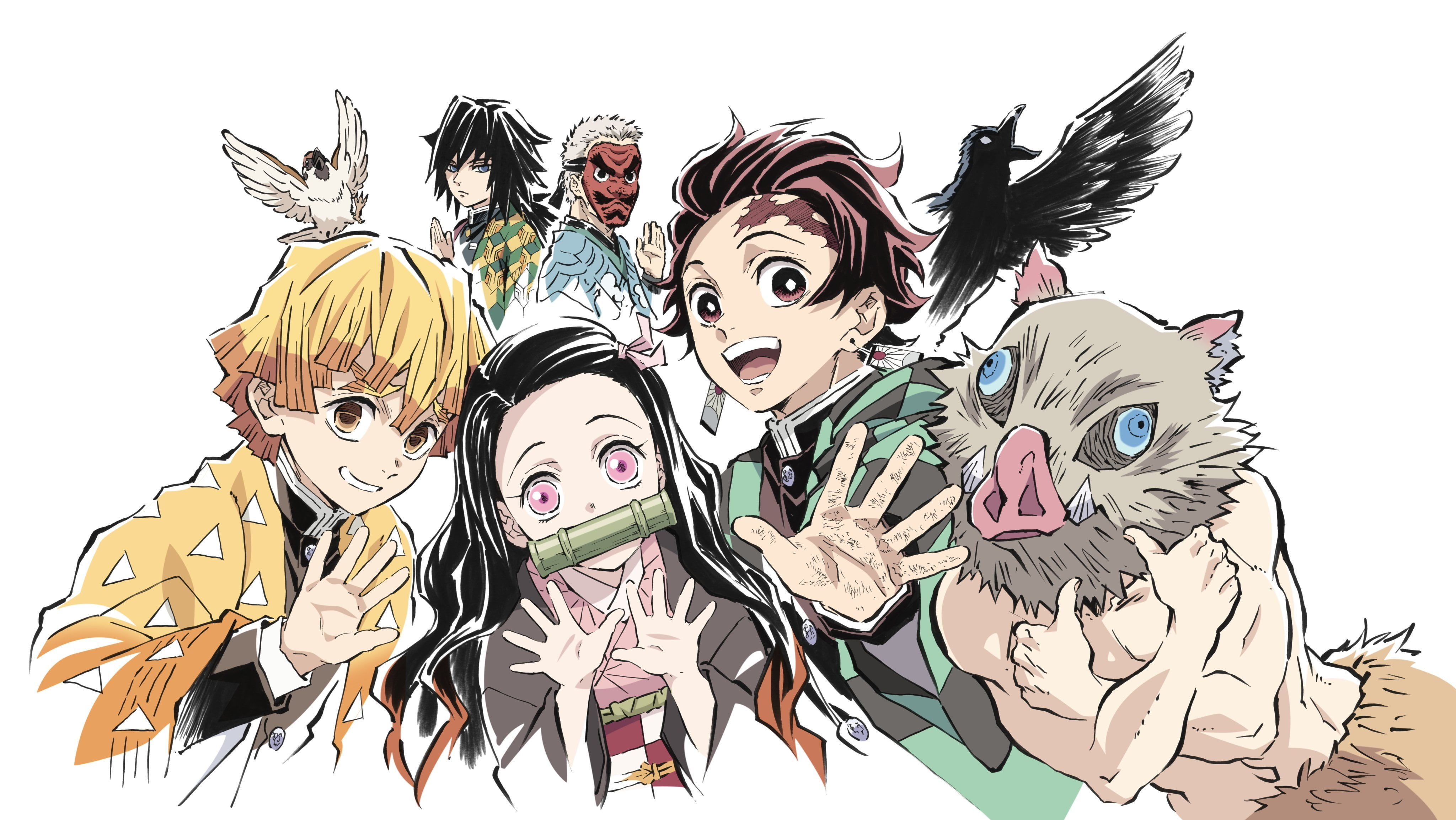 Anime Demon Slayer Kimetsu No Yaiba Giyuu Tomioka Inosuke Hashibira Nezuko Kamado Sakonji Urokodaki Tanjirou Kamado Zenitsu Ag In 2020 Anime Anime Demon Anime Images