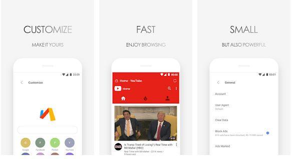 Unduh Browser Terbaik Android Super Cepat Dan Super Ringan Ukuran