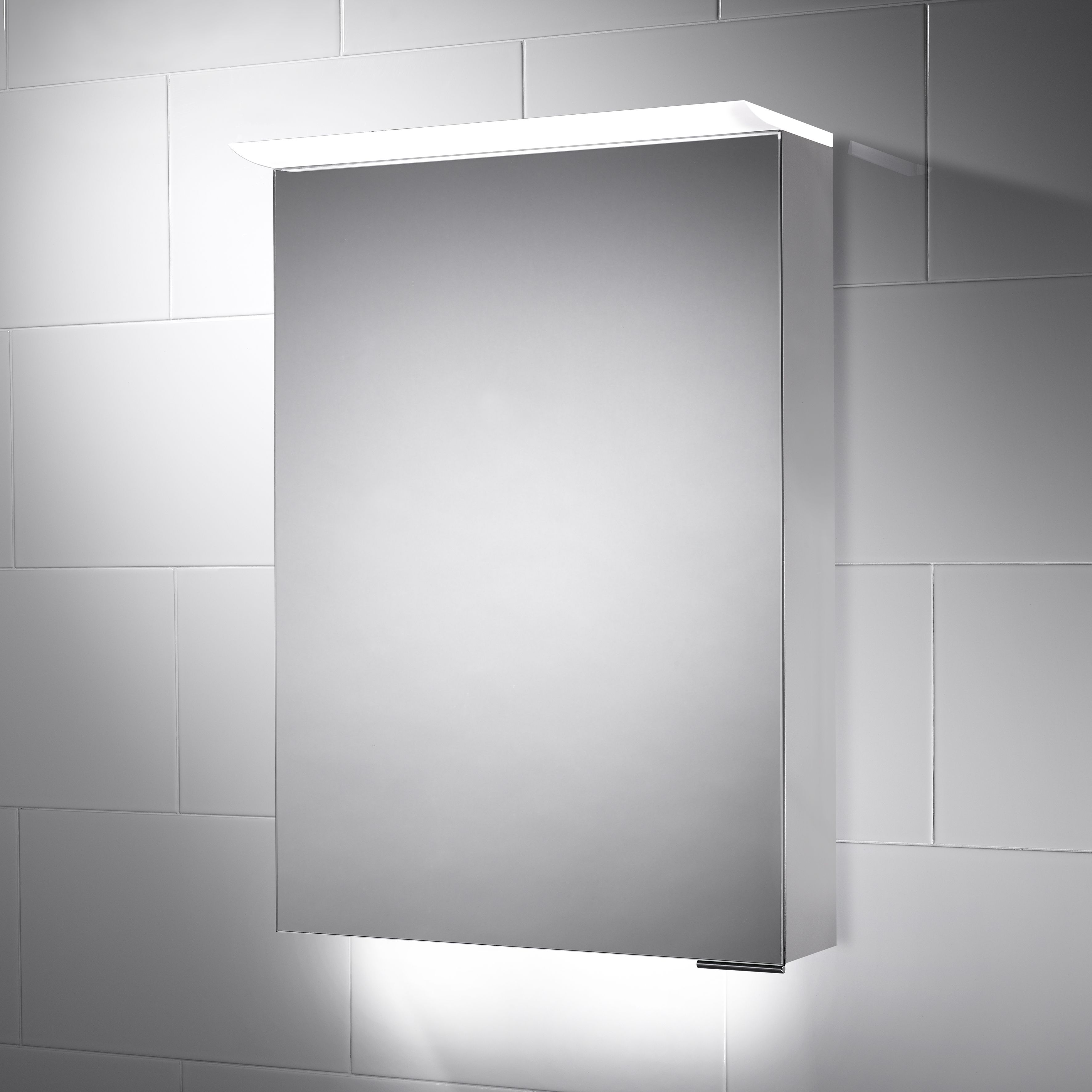 Richmond Led Illuminated Bathroom Cabinet Mirror With Shaver Socket 500 X 700mm Bathroom Mirror Cabinet Illuminated Bathroom Cabinets Led Mirror Bathroom
