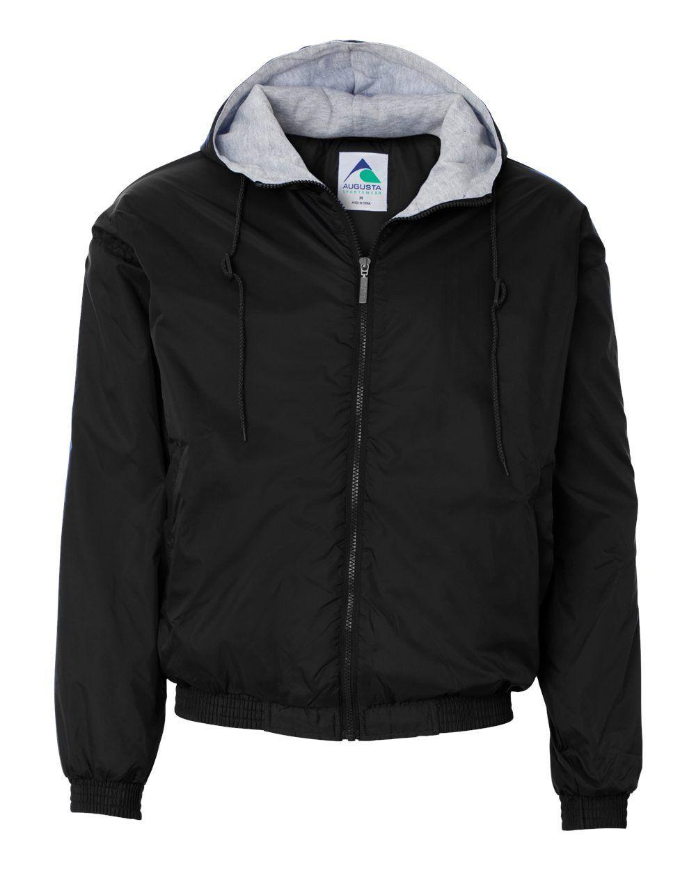 Augusta sportswear hooded fleece lined jacket black