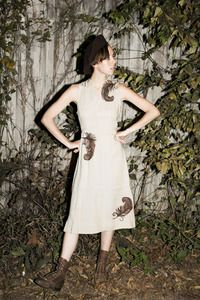 FEATHERWEIGHT 40'S DRESS  http://store.charmschoolvintage.com  photo by Dagny Piasecki  model Shayne Stroud