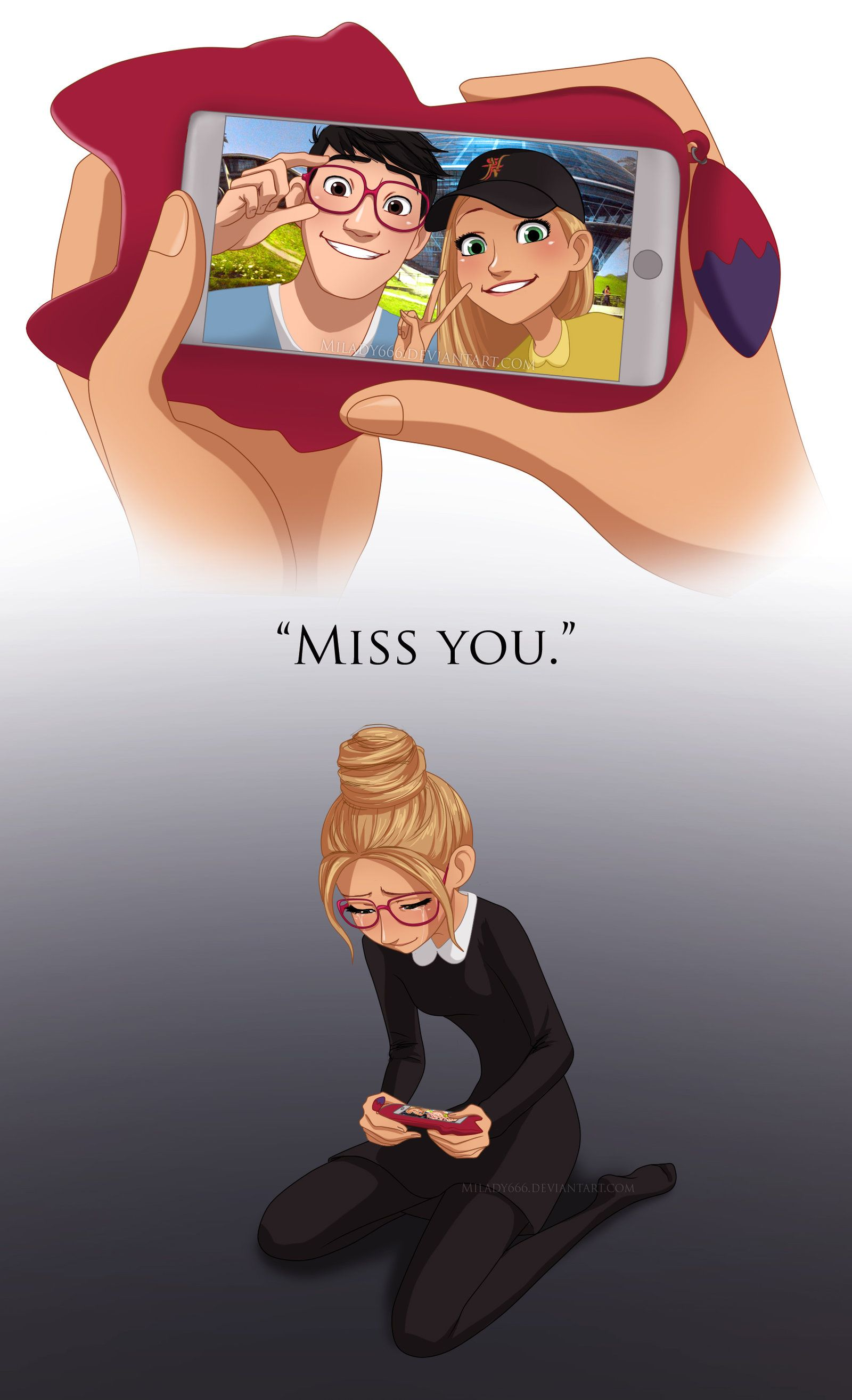 Miss you by Milady666.deviantart.com on @deviantART | really i love this fanart