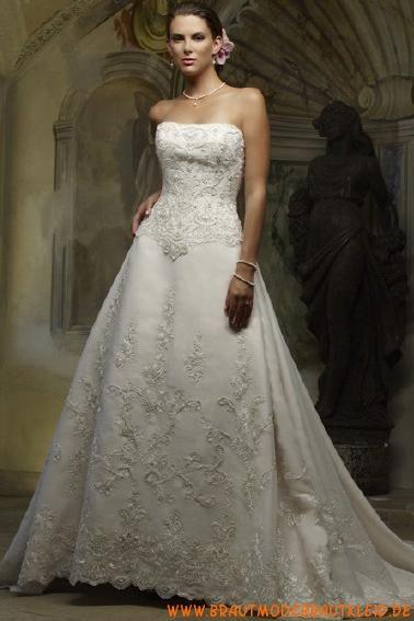 2013 Traumhaftes Brautkleid A-Linie mit langer Schleppe