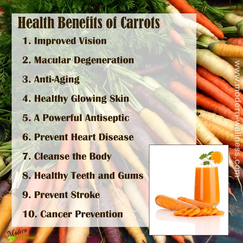 are carrots good for dieting
