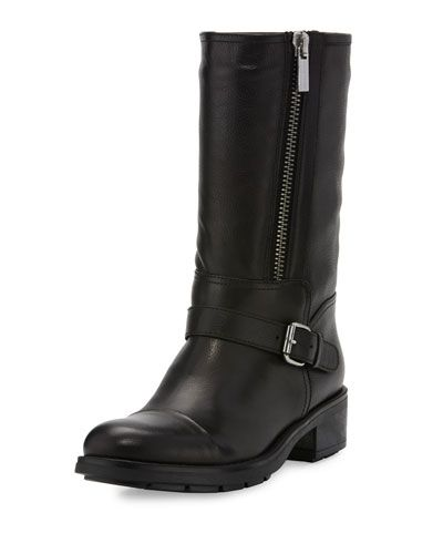 X3CT4 Aquatalia by Marvin K Samantha Leather Boot, Black