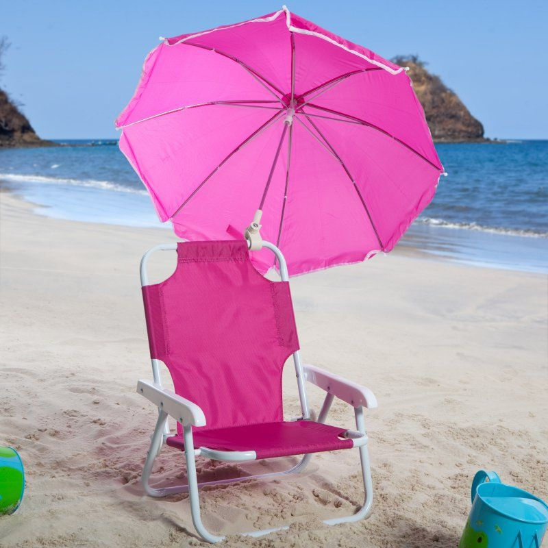 Toddler Beach Chair With Umbrella Menards Patio Cushions Outdoor Kids Pink 9001hpk Products