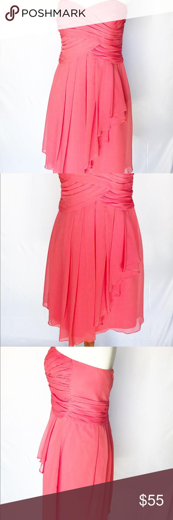 Peach Chiffon Tube Top Dress   My Posh Closet   Pinterest